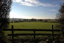 Worcestershire countryside walks (Upton Snodsbury church tower in distance)