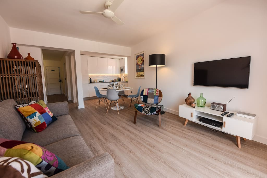 "Spacious lounge with double glazed patio doors,  42"" TV, Cable, Wi-Fi and and Bluetooth radio"