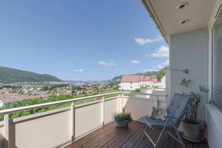 Central but secluded appartment overlooking Bergen - Bergen - Lejlighed