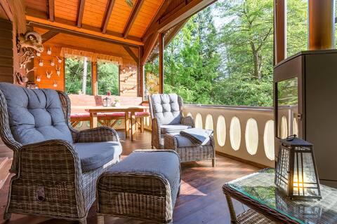 Natur Ferienhaus Trebnitzgrund - Urlaub im Wald