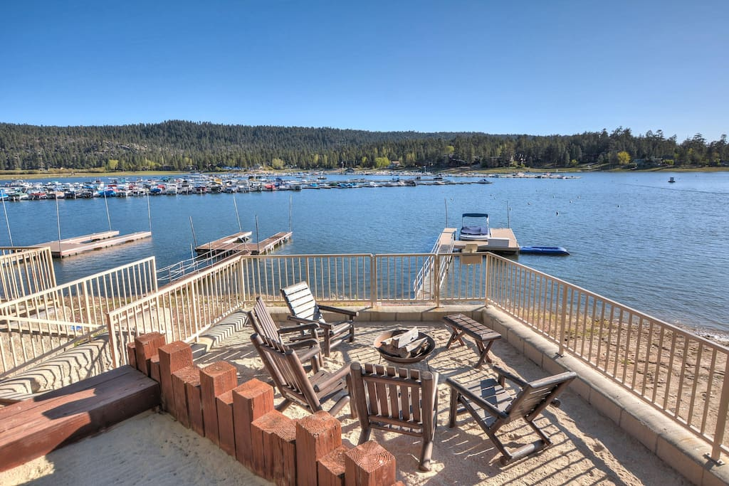 New Deck and Dock in Deep Water  (fire pit not included)