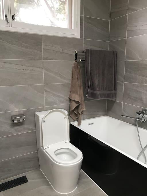 新装浴缸和马桶