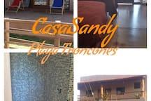 CASA SANDY.CASA COMPLETA a 20 PASOS DE LA PLAYA.