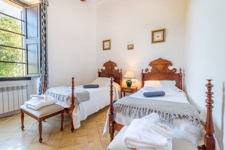 Beautiful Room in Guest House Son Vivot with Pool, Terraces & Wi-Fi; Parking Available, Breakfast Included