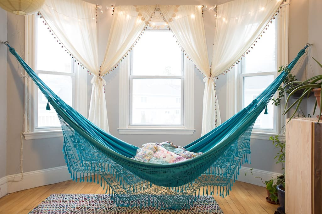 Sleep or lounge in our guest hammock!