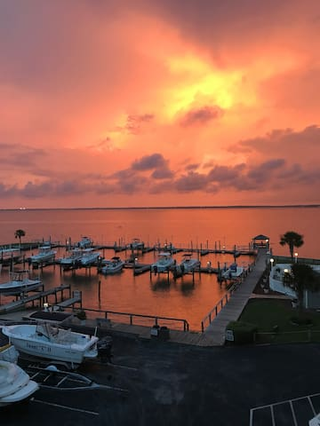 Soundfront condo with amazing views and sunsets!