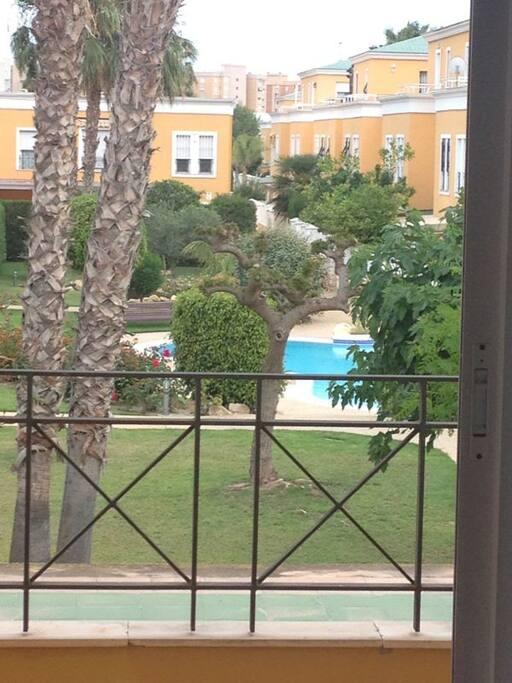 Una de las 4 piscinas