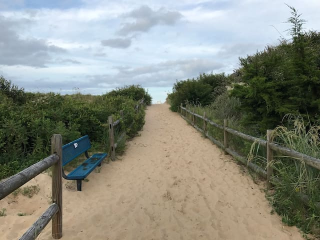 Public access to Croatan Beach Atlantic Ocean. Less than 300 feet from the Guest Suite.