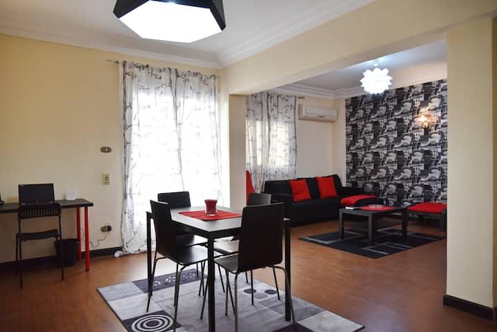 Modern central 2-bedroom in Maadi Degla