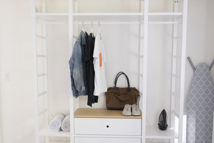 Open closets in each bedroom allow you to unpack, and get out on the beach or on the town quickly