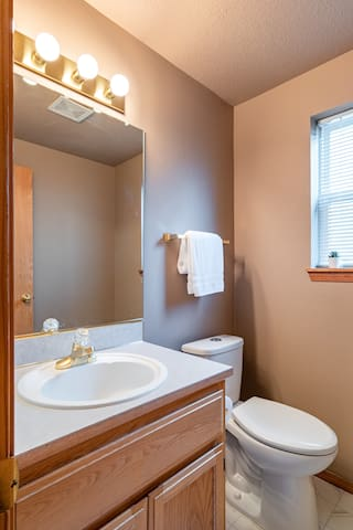 Living Room Bathroom (adjacent to Laundry Room and Garage)