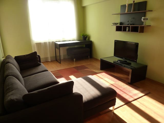 75 sqm privat parking cosy three-room apartment