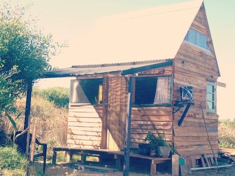 Cabaña para dos, a 100m del mar. Valizas.
