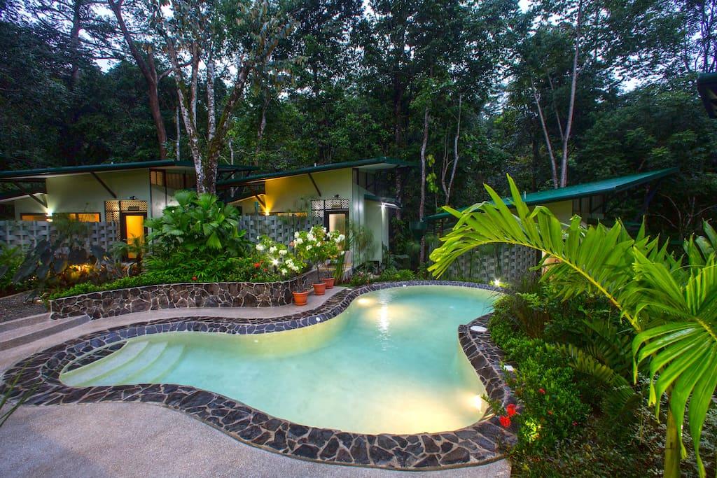 Eco friendly salt-water pool