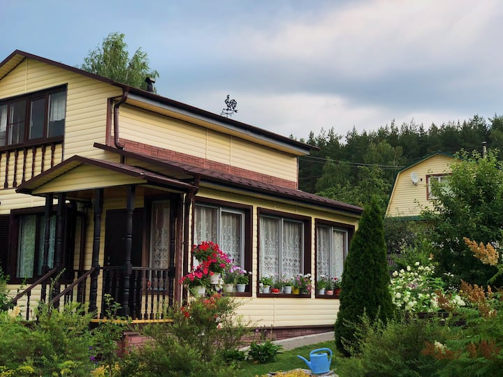 Дом в сосновом лесу