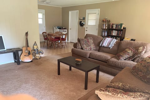 Pet friendly room with fenced in back yard