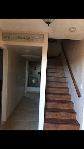 Stairs to upstairs bedrooms.