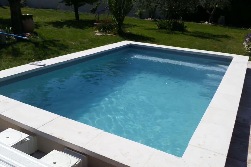 la piscine ouverte en saison