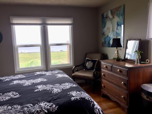 King Bedroom with Ocean Views.