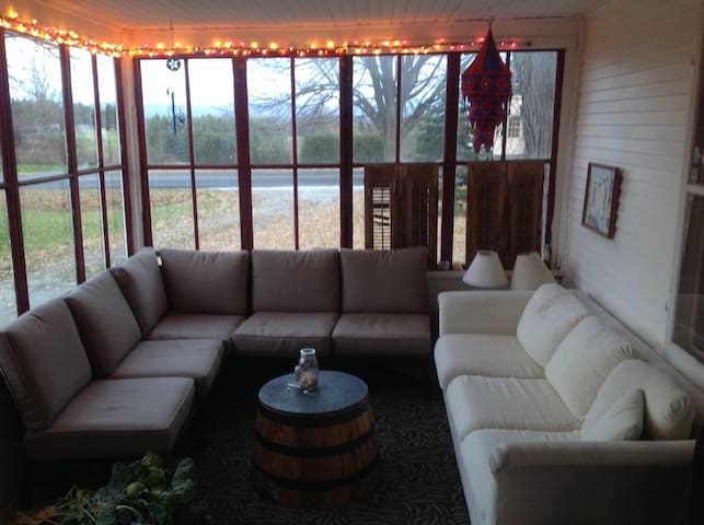 One of two sun rooms