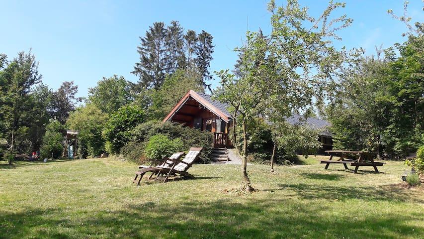 Ardennen/Barvaux/Durbuy:  chalet met grote tuin