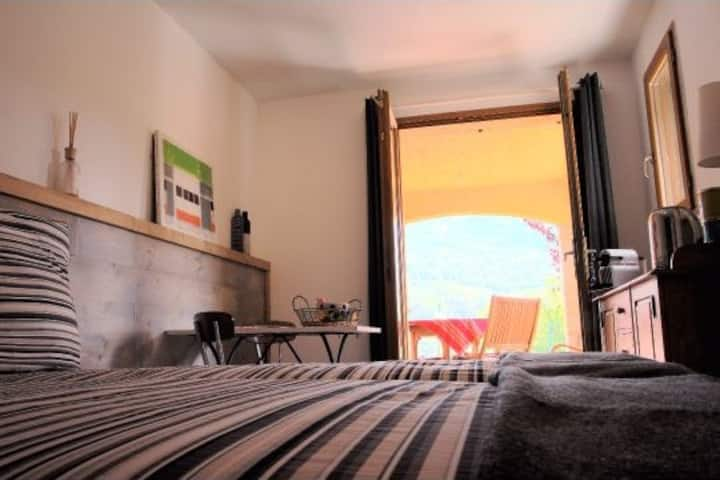 Bed& Breakfast Chambre privative avec terrasse