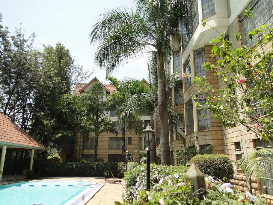 Lush Gardens and swimming pool Area great for a little RnR