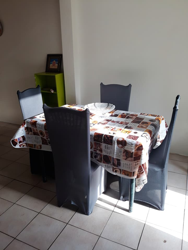 Apartment with one bedroom in Ducos, with shared pool, enclosed garden and WiFi - 10 km from the beach