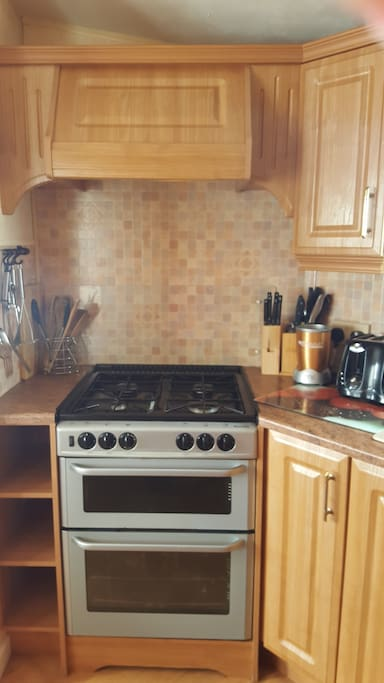 gas oven grill and top