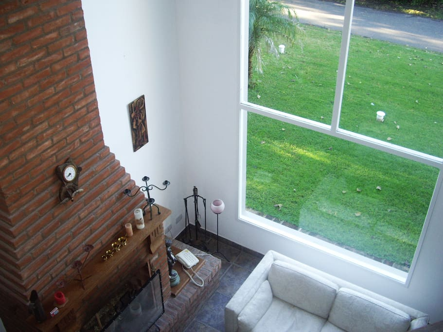 Living area from first floor