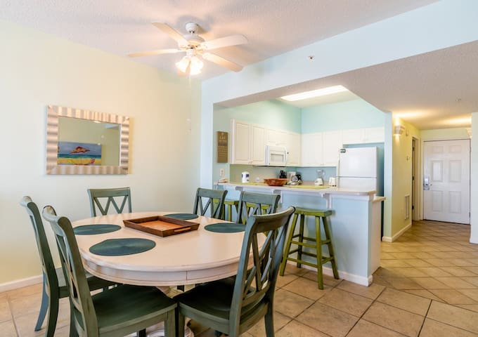Open floor plan so great for entertaining and the Gulf of Mexico and the beaches are always within sight.