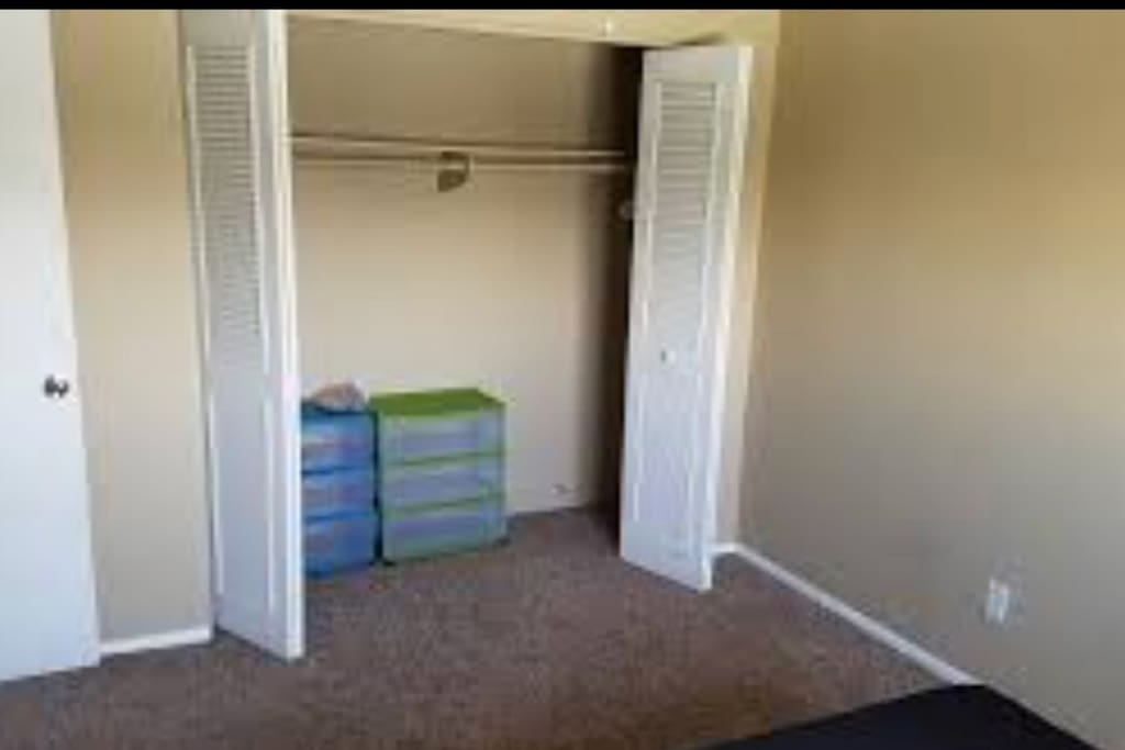 Closet space for the room available to rent.