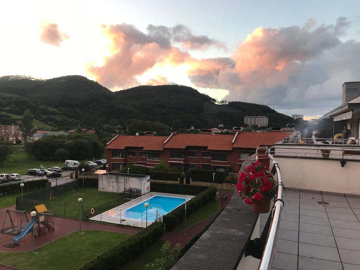 penthouse with nice view (WiFi). Licence EBI01253