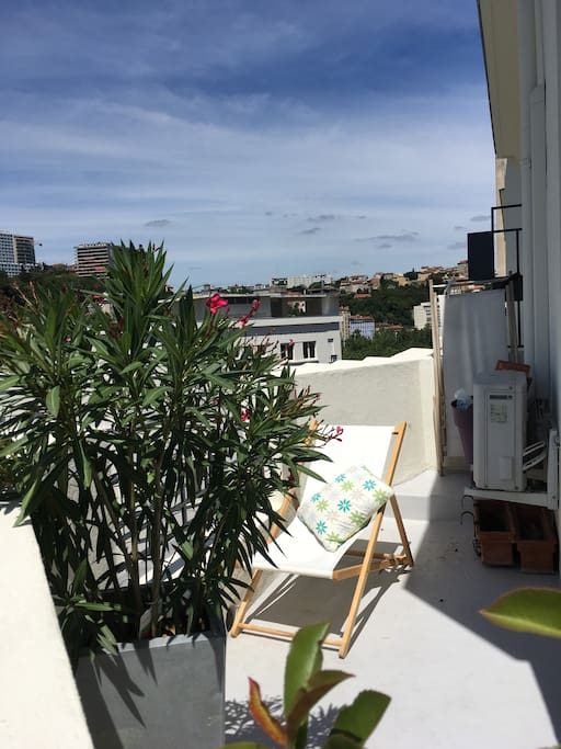 Nice appartement with terrasse and fantastic view for Appartement terrasse lyon