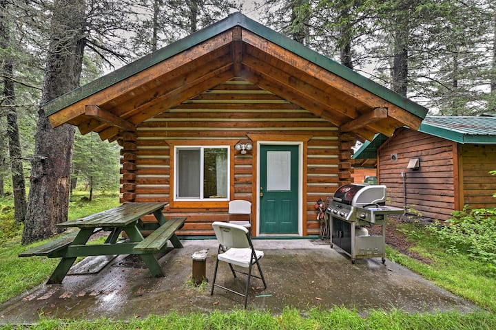 Creekside Seward Cabin w/ BBQ Fire Pit on 3 Acres!