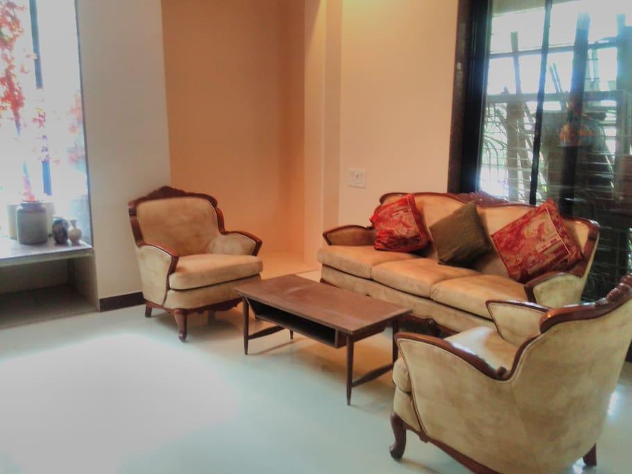 Living room sitting area of ground floor, 4 bhk flat