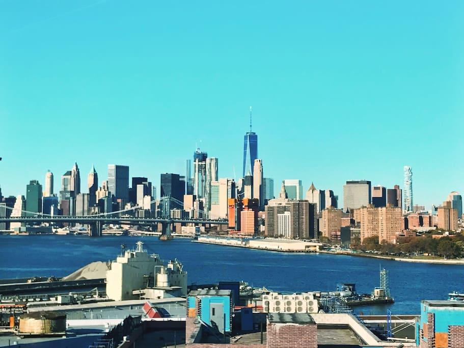 View from the Rooftop of the Freedom Tower and manhattan Bridge