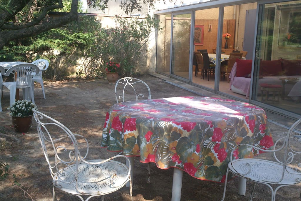 Le jardin et véranda