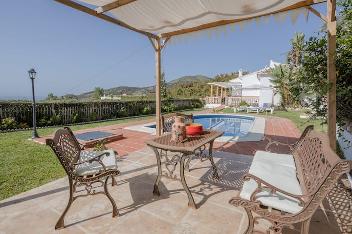 "Beautiful Vacation Home ""Villa La Macera"" with Sea View, Mountain View, Wi-Fi, Pool & Terrace; Parking Available"
