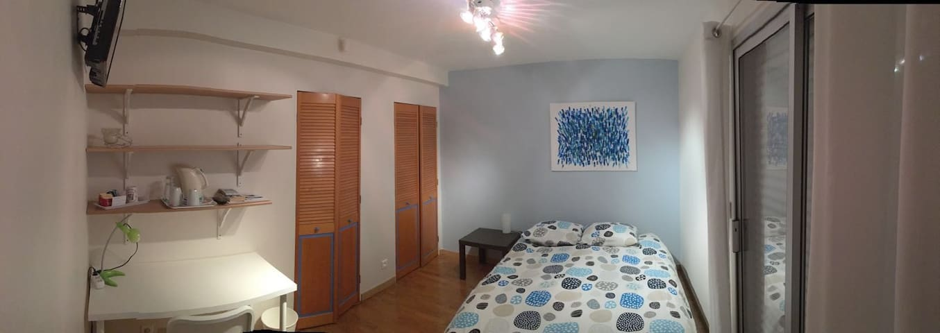 Chambre, SDB et terrasse privative -  18 m2 - ESC - Saint-Grégoire - Dům