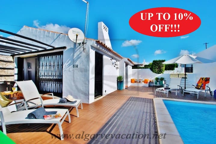 FANTASTIC 2 BED VILLA W/ HEATED POOL, AIR CON - Albufeira - House
