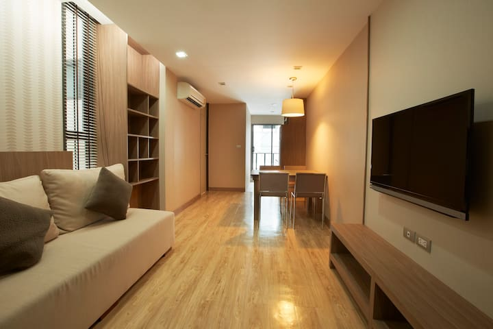 QubeSuites3: 2BR,60sqm,200m to BTS - Bangkok - Appartement
