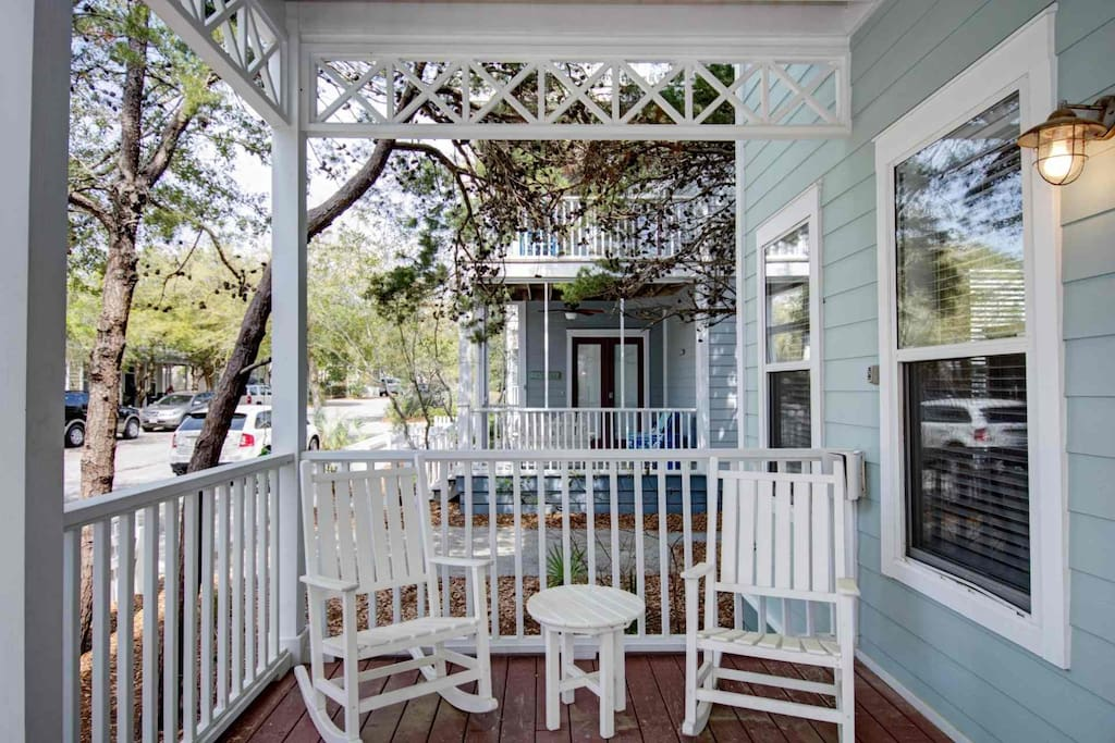 Front Porch Charm at Limoncello Family Beach Home in Summer's Edge Community of Seagrove Beach, Florida