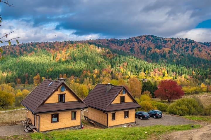 Domki z widokiem na Bieszczady - Krzywy Zakątek