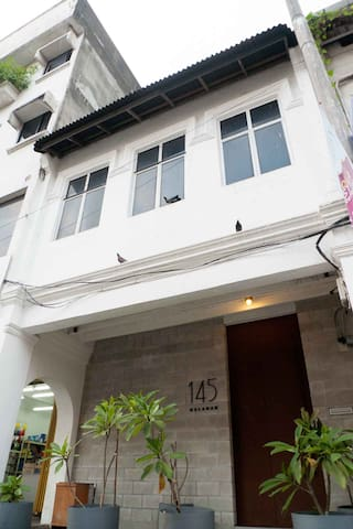 Front of house,  conversion from an old shophouse