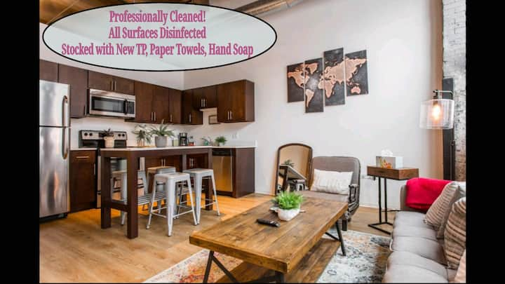 The Cozy❤️1bd Timber Loft❤️CDC Clean!