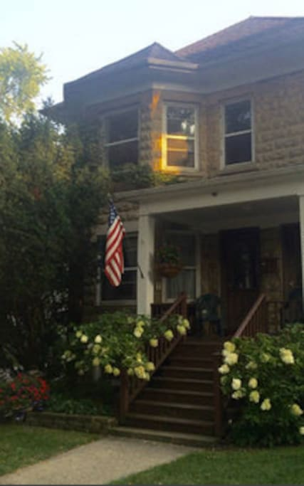 Quiet 100 year old first floor duplex on beautiful tree lined street.