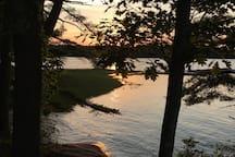 sunset, Winslow Park