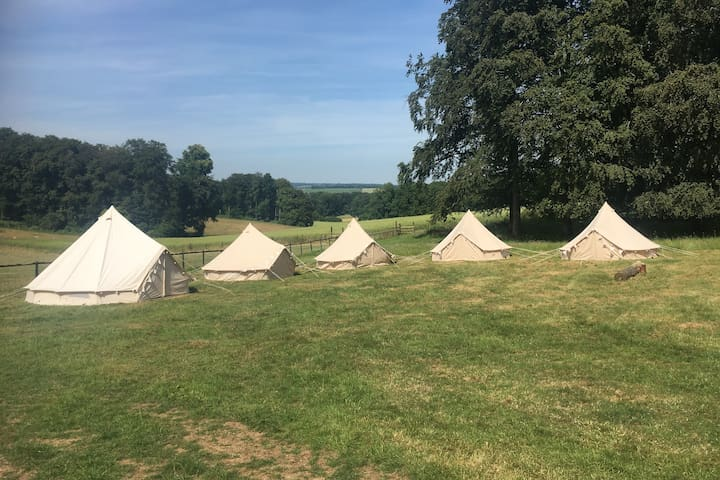 Bell Tent Farm stay - back to nature.