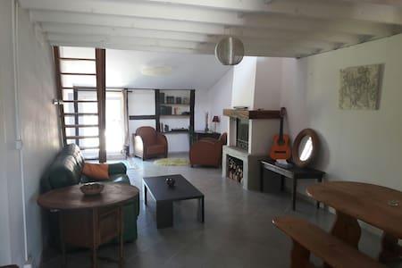 Belle maison 65m2 avec cheminée terrasse et jardin - Frangy-en-Bresse - Ház